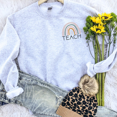 Teach Rainbow Sweatshirt