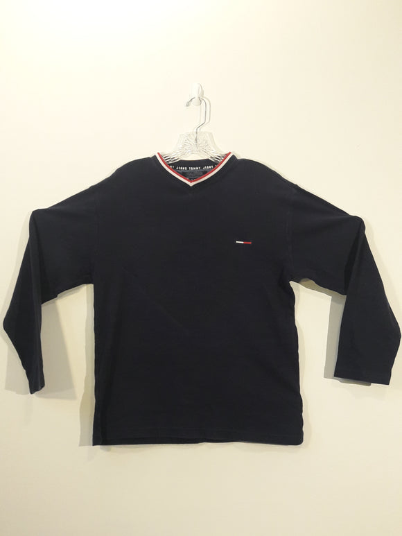 Vintage Tommy Hilfiger V-neck Long Sleeve T Shirt Men's Small