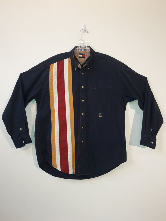 Vintage 90s Tommy Hilfiger Button Front Shirt Men's Large