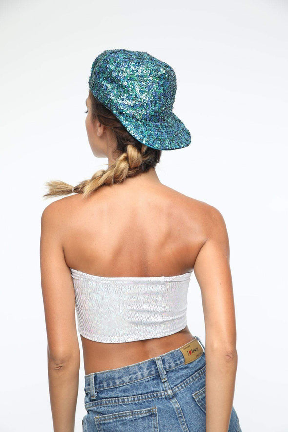 Holographic Sequin Hat | Peacock