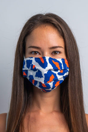 Party Panther 3ply Pleated Cotton Face Mask