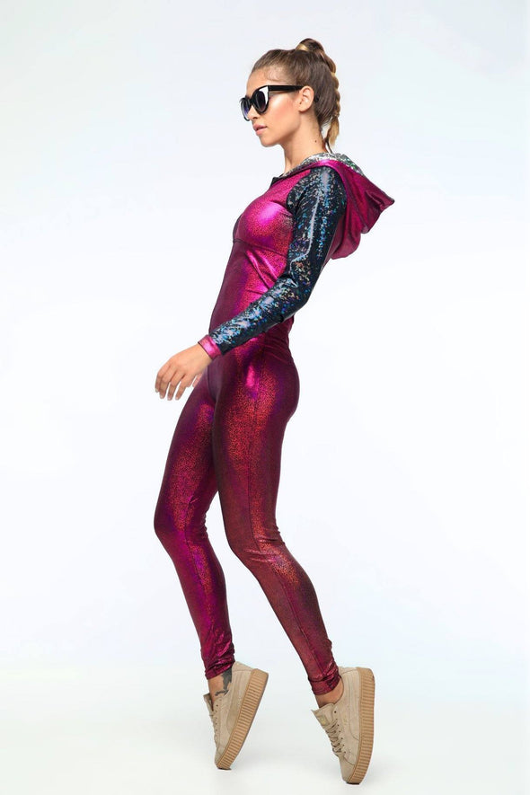 Holographic Jumpsuit - Women's Jumpsuits From Sea Dragon Studio Festival & Rave Outfits Collection