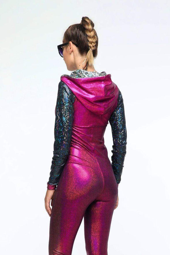 Holographic Jumpsuit - Women's Jumpsuits From Sea Dragon Studio Festival & Rave Outfit Collection