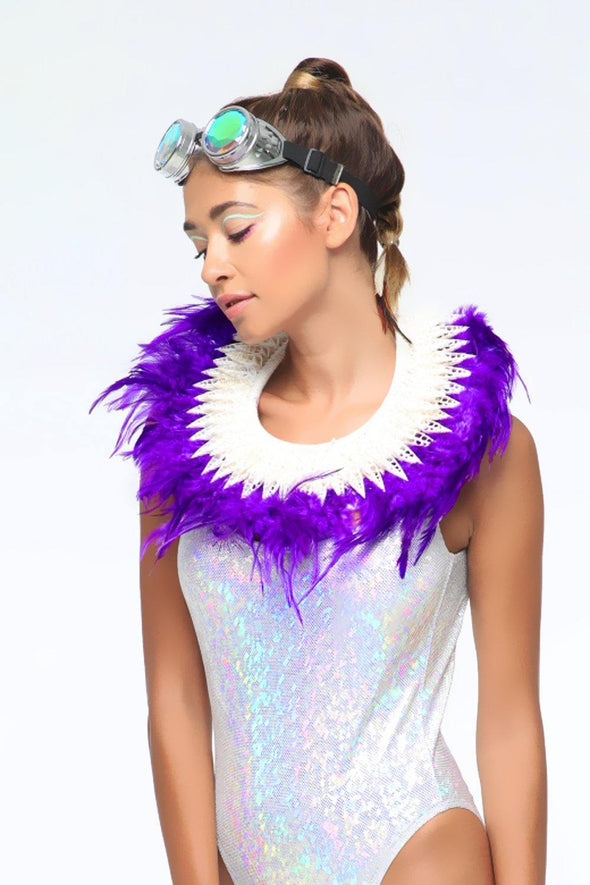 Purple Feather Collar
