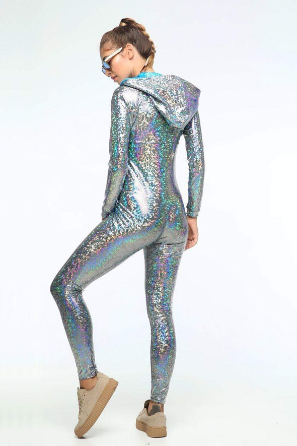 Holographic Jumpsuit - Women's Jumpsuits From Sea Dragon Studio Festival & Rave Clothing Collection