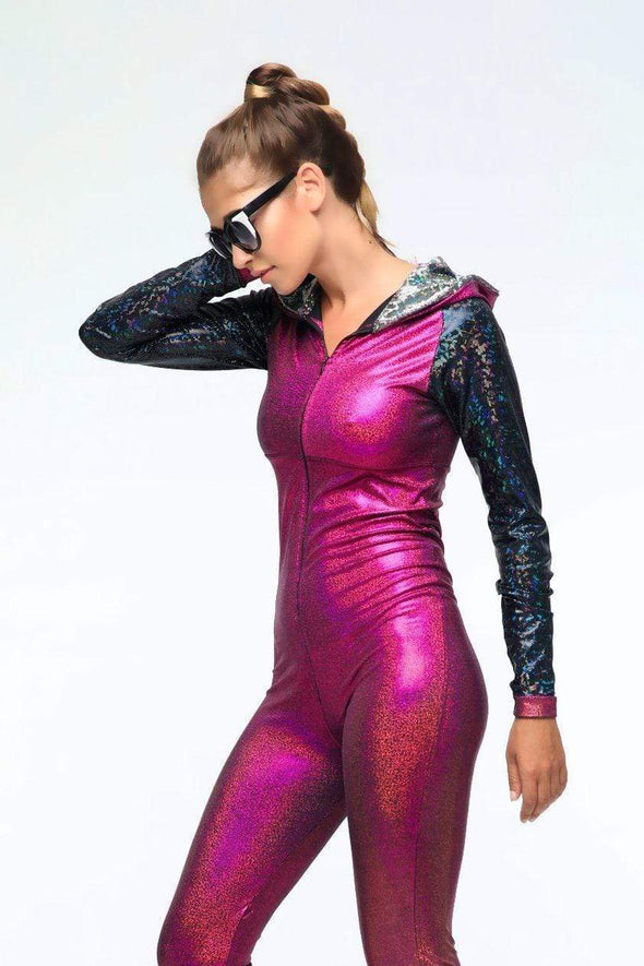 Holographic Jumpsuit - Women's Jumpsuits From Sea Dragon Studio Festival & Rave Gear Collection