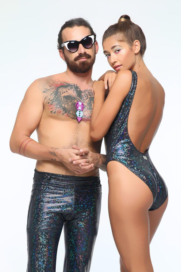 Holographic Retro Bodysuit | 13 Colors - Womens Bodysuits