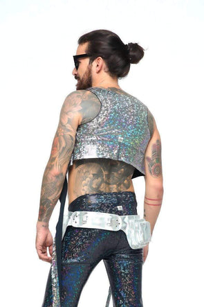 Mens Holographic Wrap Top | 13 Colors - Mens Tops