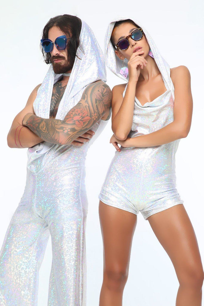 Mens Holographic Disco Jumpsuit - Men's Jumpsuits From Sea Dragon Studio Festival & Rave Outfits Collection