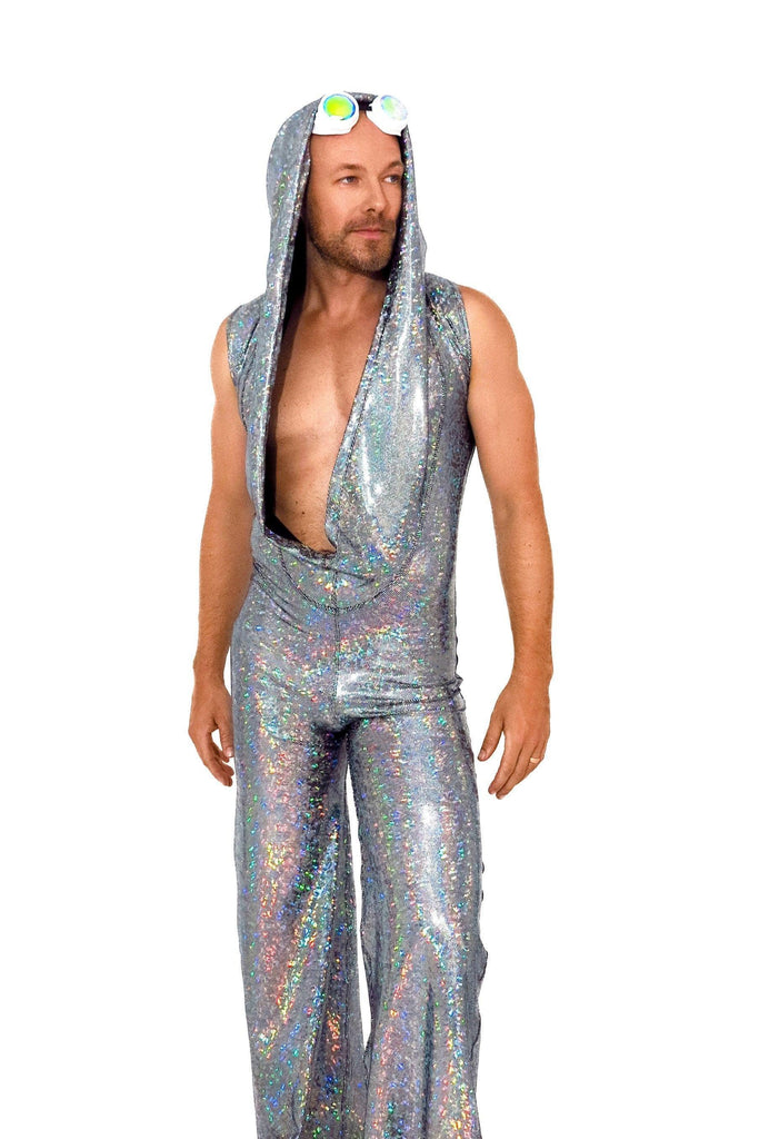 Mens Holographic Disco Jumpsuit - Men's Jumpsuits From Sea Dragon Studio Festival & Rave Outfit Collection