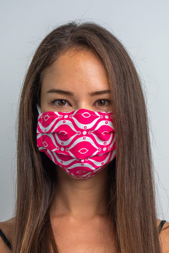 Retrovision 3ply Pleated Cotton Face Mask