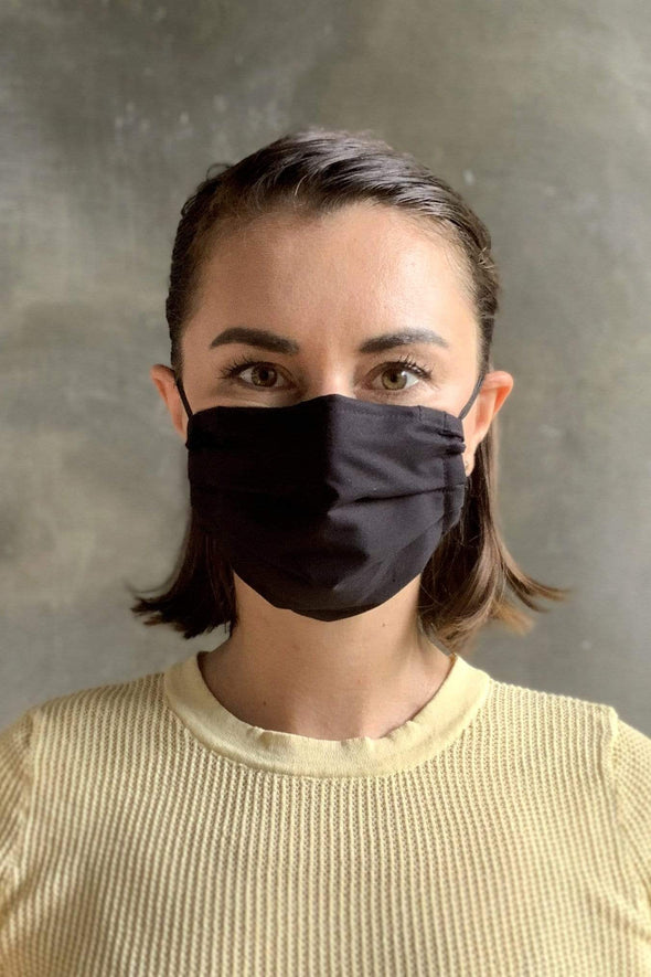 Black Cotton Cloth Face Masks