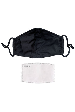 Deluxe 3Ply Cotton Mask w/ Bamboo Liner and Filter Pocket + PM2.5 Filter + Mask Bag