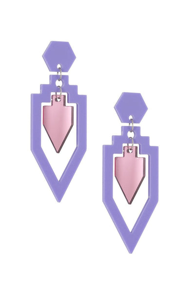 Grand Rex Deco Earrings Lavender & Pink | Easy Tiger Designs