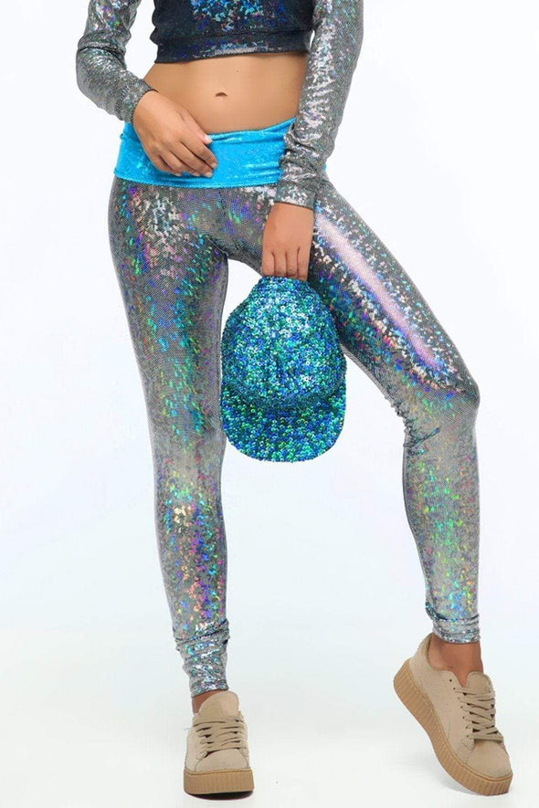 Holographic High-Low Leggings | 13 Colors - Womens Bottoms
