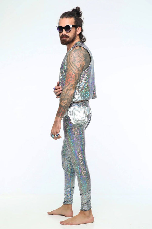 Holographic Meggings With Pockets | 13 Colors - Mens Bottoms