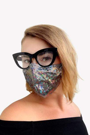 Holographic 3ply Face Masks with PM2.5 Filter & Mask Bag
