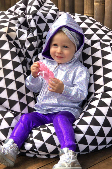 Kids Holographic Leggings - Kid's Bottoms From Sea Dragon Studio Festival & Rave Clothing Collection