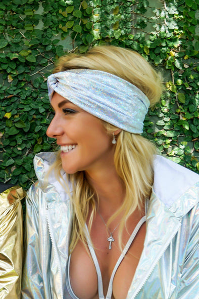 Holographic Turban Headband | 13 Colors