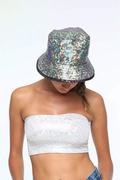 Holographic Reversible Bucket Hat | 22 Colors - Headwear