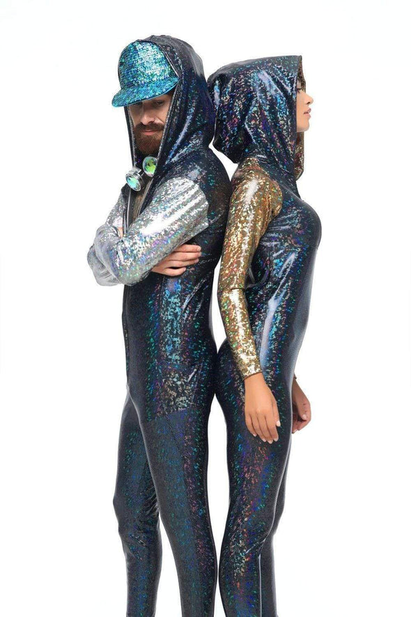 Mens Holographic Jumpsuit - Men's Jumpsuit From Sea Dragon Studio Festival & Rave Gear Collection