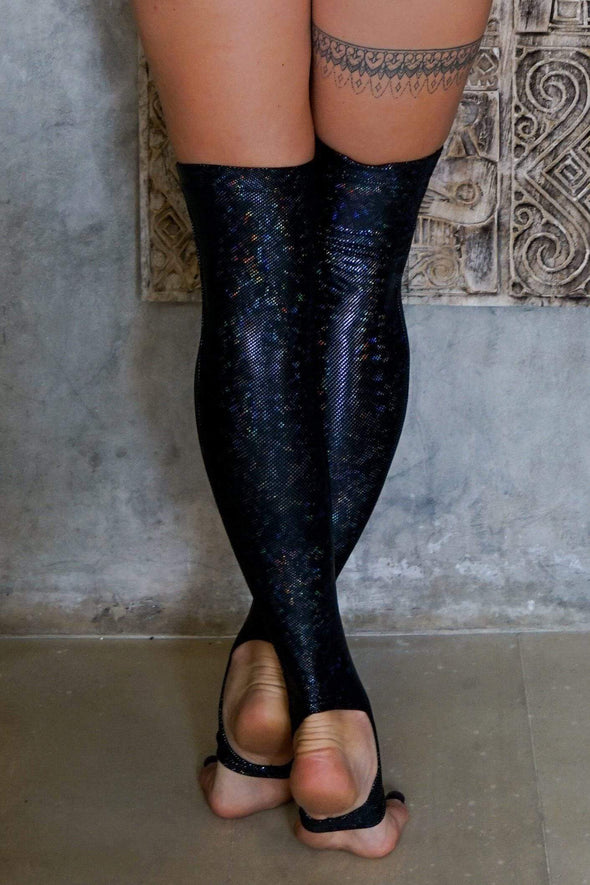 Holographic Over The Knee Socks - Women's Festival & Rave Clothings Accessories From Sea Dragon Studio