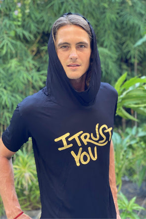 I Trust You' Mens Tshirt With Hood