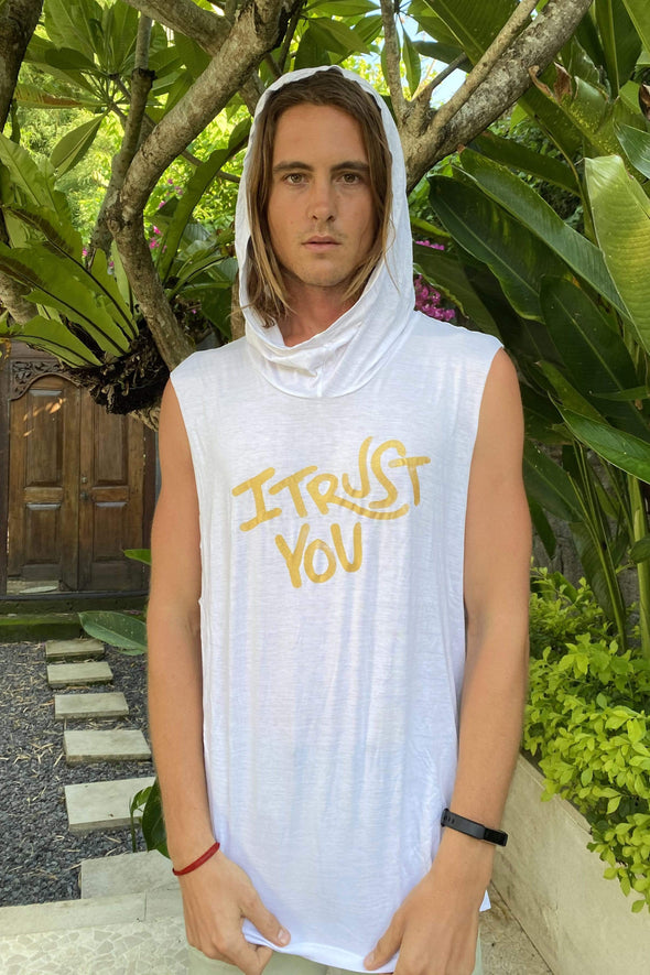 I Trust You' Mens Tank Top With Hood