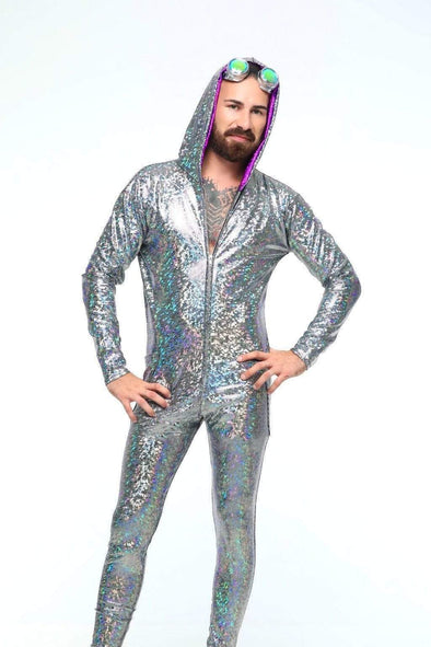 Mens Holographic Jumpsuit - Men's Jumpsuit From Sea Dragon Studio Festival & Rave Clothing Collection
