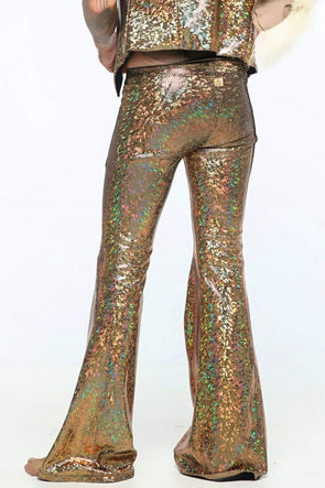 Mens Holographic Flares - Men's Bottoms From Sea Dragon Studio Festival & Rave Clothing Collection