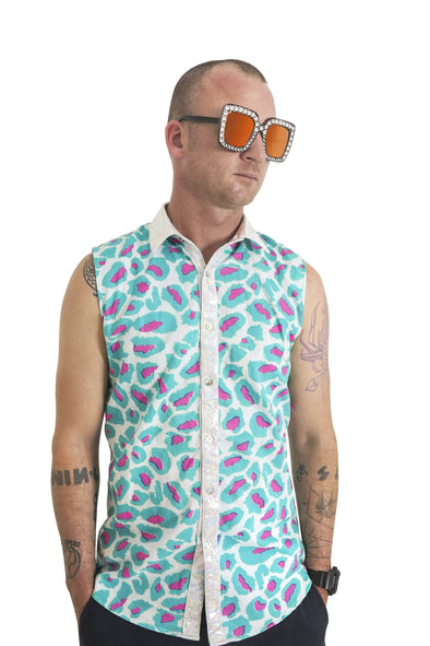 Mens Techno Leopard Shirt