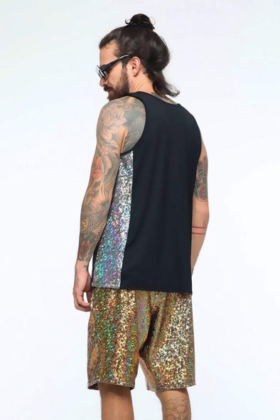 Mens Holographic Tank | 4 Colors - Mens Tops