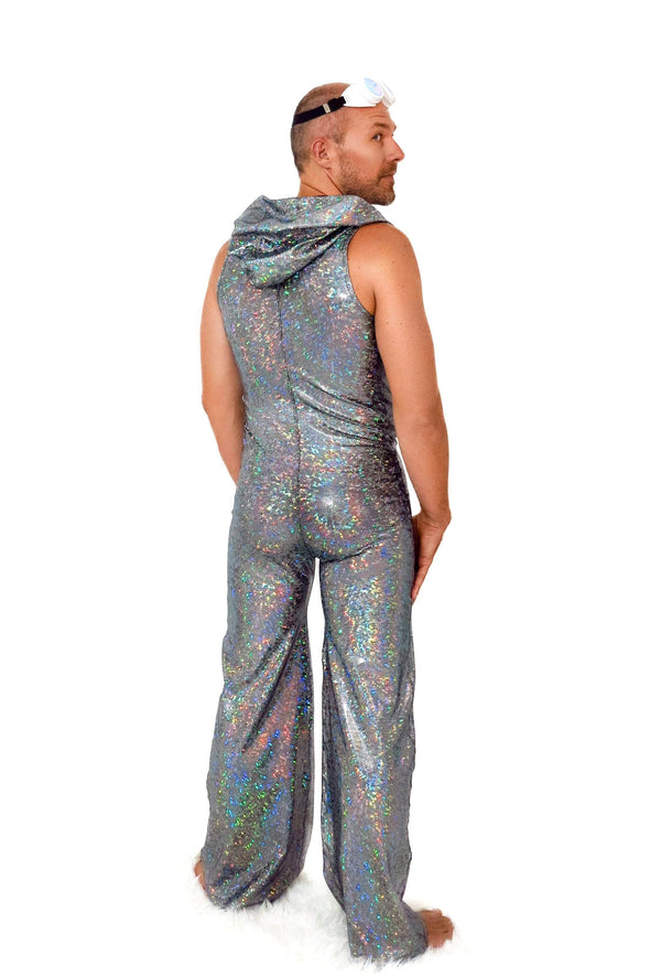 Mens Holographic Disco Jumpsuit - Men's Jumpsuits From Sea Dragon Studio Festival & Rave Wear Collection