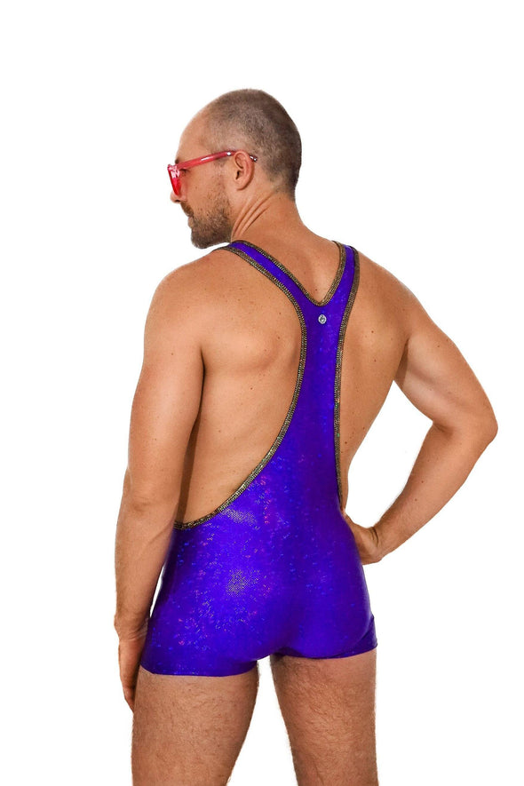 Holographic Mens Wrestling Suit | 13 Colors