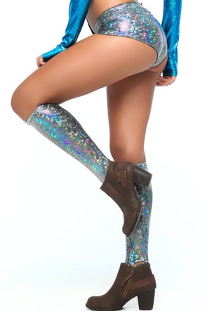 Holographic Knee High Socks | 13 Colors - Accessories Other