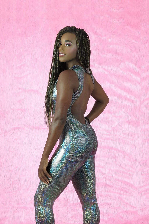 Mesh Front Holographic Catsuit | 13 Colors