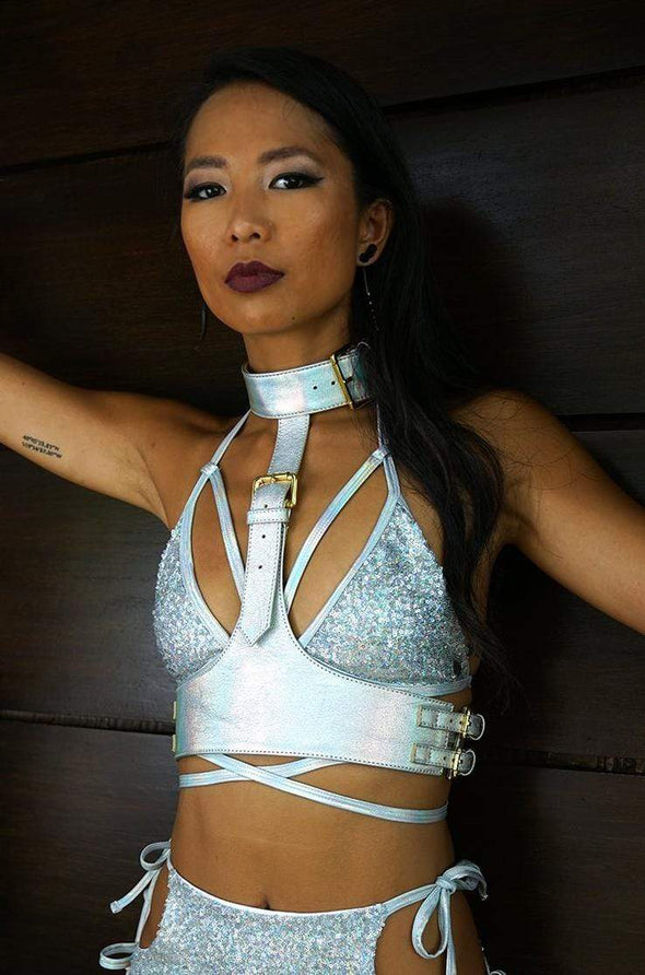 Keeper Holographic Leather Harness