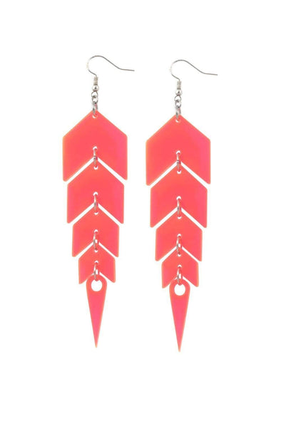 Pink Mirror Drop Earrings | Easy Tiger Designs