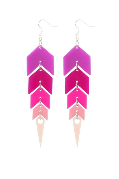 Pink Ombre Drop Earrings | Easy Tiger Designs