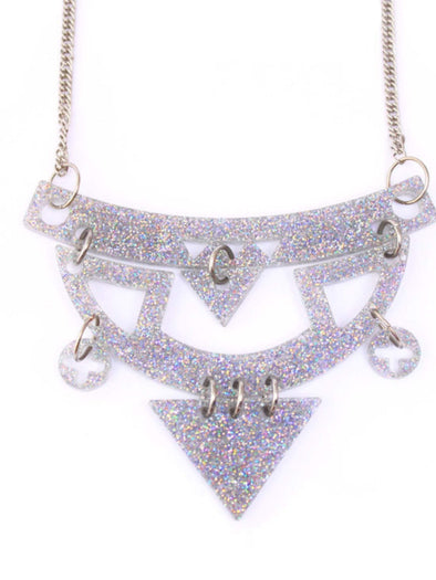 Holo Sparkle Tribal Necklace