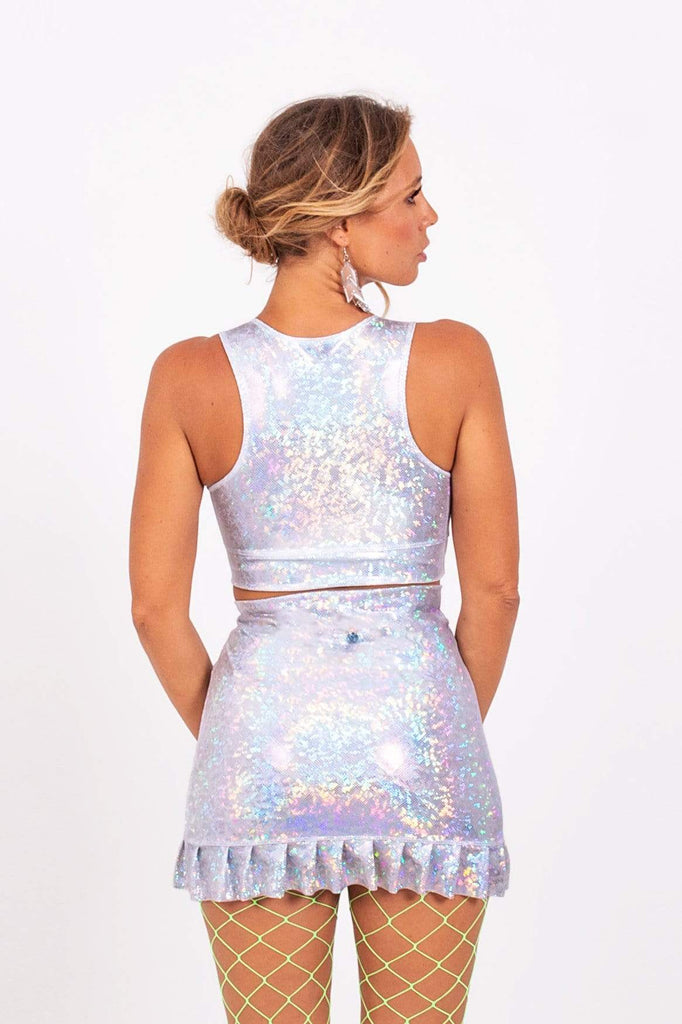 Holographic Frill Skirt | 13 Colors Womens Bottoms SEA DRAGON STUDIO