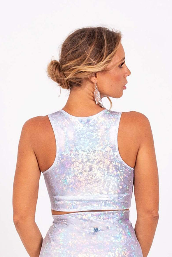 Mesh-Front Crop Top | 13 Colors