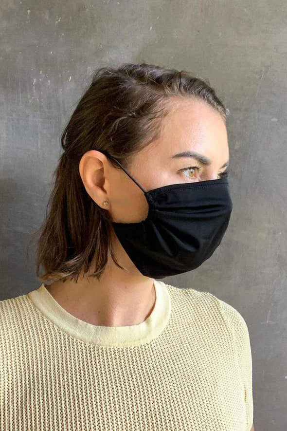 Black Spandex Cloth Face Masks