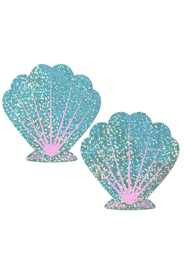 Holographic Seafoam Green and Pink Mermaid Nipple Pasties