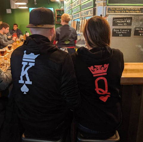 King & Queen Card Hoodies | Holistic Bear