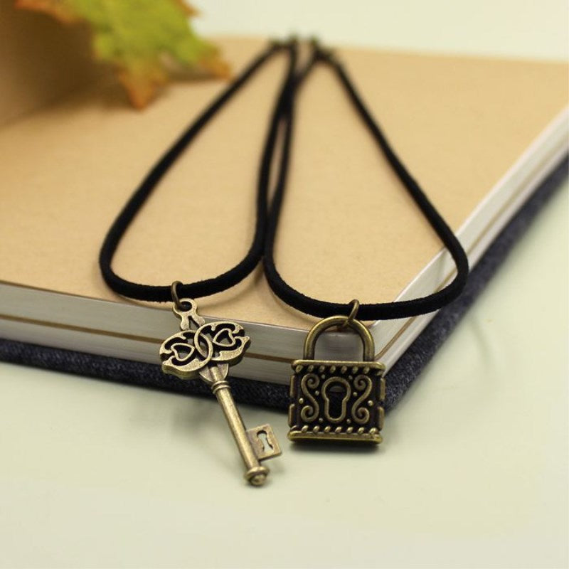 Locked Heart Couple Necklaces