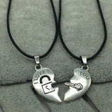 I Love You Couple Necklaces