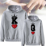 King & Queen Love Hoodies