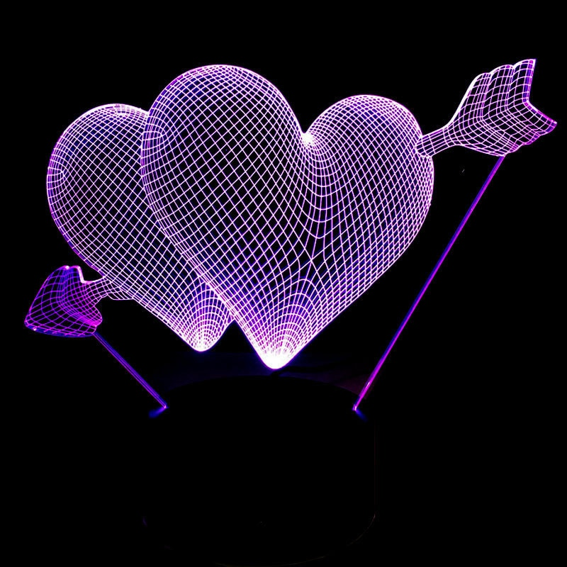 Lover's Paradise Hologram Lamp