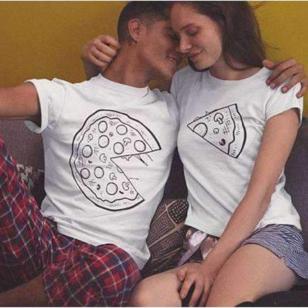 Couple's Pizza Shirts